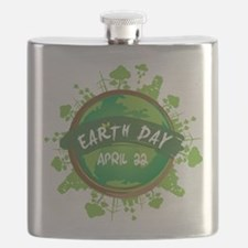 Earth Day April 22 Flask