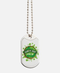 Earth Day April 22 Dog Tags