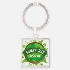 Earth Day April 22 Keychains