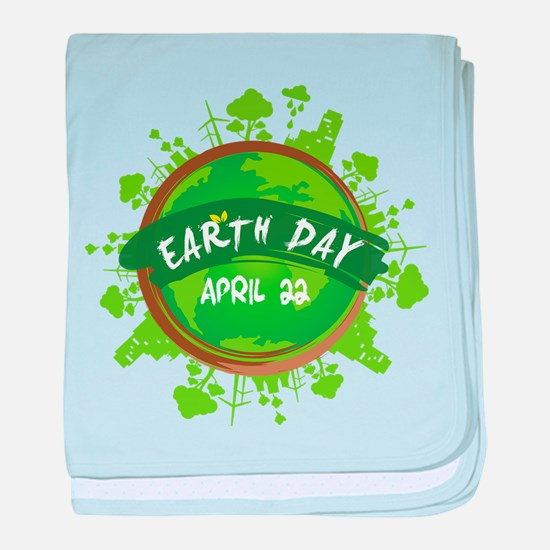 Earth Day April 22 baby blanket