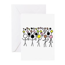 Equality Stick Figures Greeting Cards