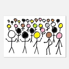 Equality Stick Figures Postcards (Package of 8)
