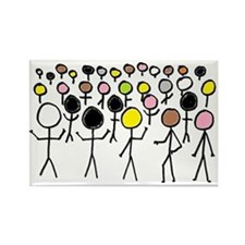Equality Stick Figures Magnets