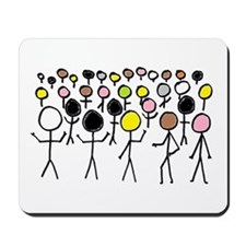 Equality Stick Figures Mousepad