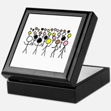 Equality Stick Figures Keepsake Box