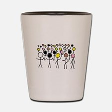 Equality Stick Figures Shot Glass