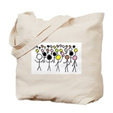 Equality Stick Figures Tote Bag