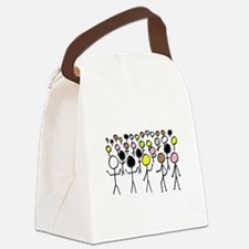 Equality Stick Figures Canvas Lunch Bag