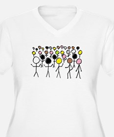 Equality Stick Figures Plus Size T-Shirt