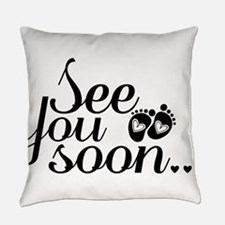 See You Soon Footprints Everyday Pillow