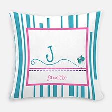 Custom Monogram Butterfly Everyday Pillow