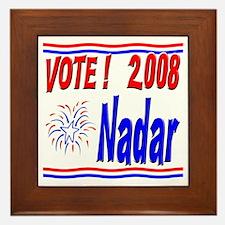 Vote Nadar Framed Tile