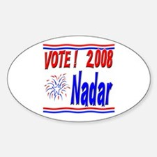 Vote Nadar Oval Decal