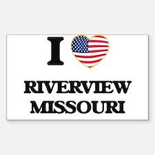 I love Riverview Missouri Decal