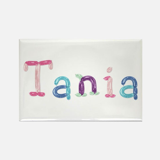Tania Princess Balloons Rectangle Magnet