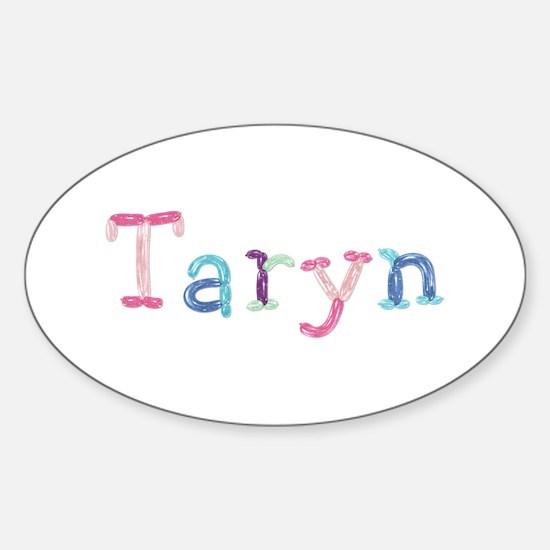 Taryn Princess Balloons Oval Decal