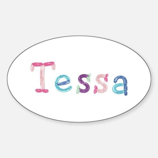 Tessa Princess Balloons Oval Decal