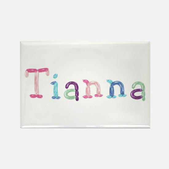 Tianna Princess Balloons Rectangle Magnet