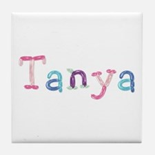 Tanya Princess Balloons Tile Coaster