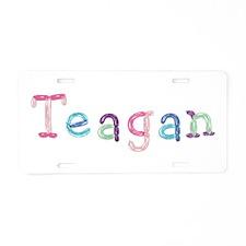 Teagan Princess Balloons Aluminum License Plate