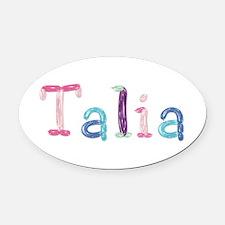 Talia Princess Balloons Oval Car Magnet