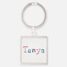 Tanya Princess Balloons Square Keychain