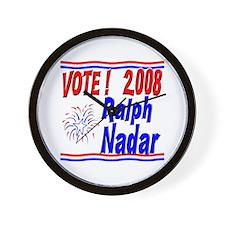Vote Ralph Nadar Wall Clock