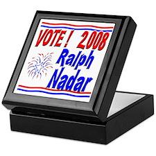 Vote Ralph Nadar Keepsake Box
