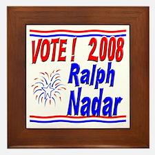 Vote Ralph Nadar Framed Tile