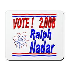 Vote Ralph Nadar Mousepad