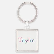 Taylor Princess Balloons Square Keychain
