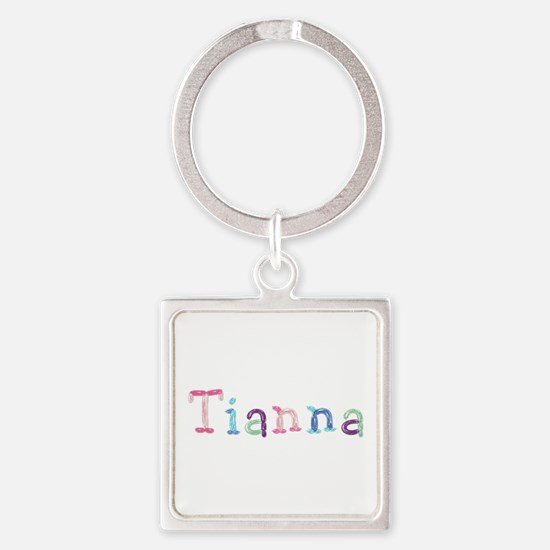 Tianna Princess Balloons Square Keychain