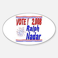 Vote Ralph Nadar Oval Decal