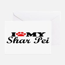 Shar Pei - I Love My Greeting Cards (Pk of 10)