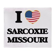 I love Sarcoxie Missouri Throw Blanket