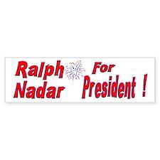 Ralph Nadar Bumper Bumper Sticker