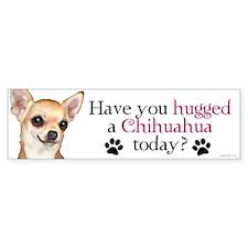 Chihuahua Hug Bumper Sticker