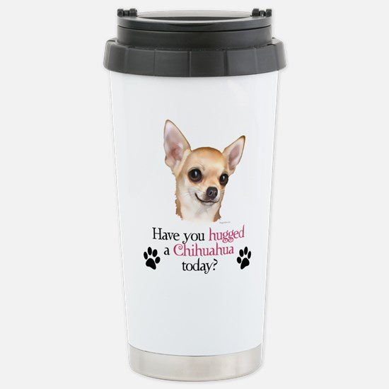 Chihuahua Hug Stainless Steel Travel Mug