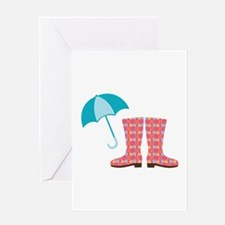 Rain Gear Greeting Cards