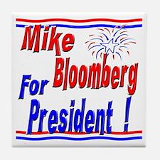 Bloomberg for President Tile Coaster