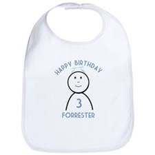 Happy B-day Forrester (3rd) Bib