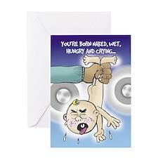 Born Naked - Greeting Card