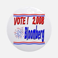 Vote Bloomberg Ornament (Round)