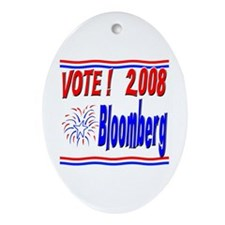 Vote Bloomberg Oval Ornament