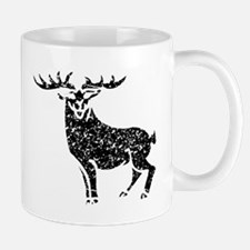 Distressed Stag Silhouette Mugs
