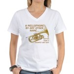 Mellophone By Any Other Nam Women's V-Neck T-Shirt