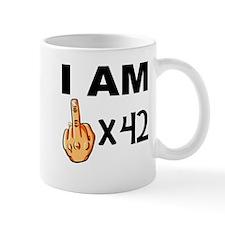 I Am Middle Finger Times 42 Mugs