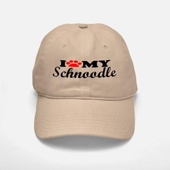 Schnoodle - I Love My Baseball Baseball Cap