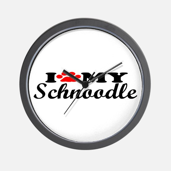 Schnoodle - I Love My Wall Clock
