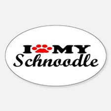 Schnoodle - I Love My Oval Decal